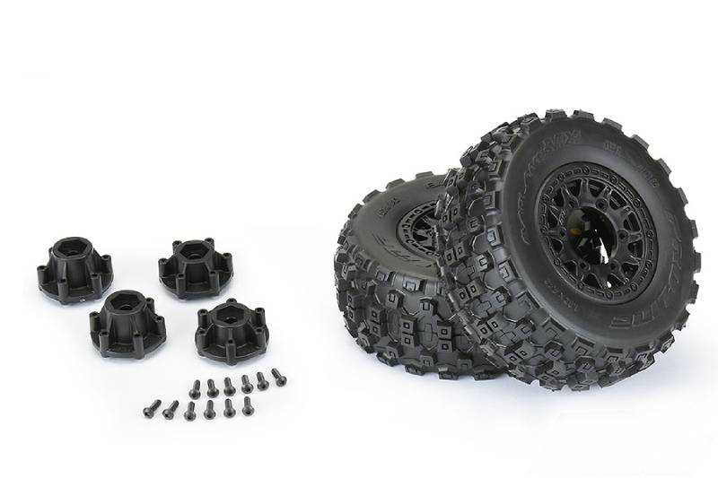 PROLINE BADLANDS MX SC 2.2/3.0 M2 TYRES RAID 6X30 WHEELS BK
